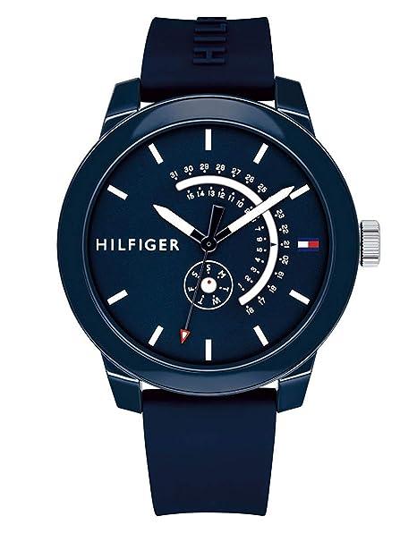 Tommy Hilfiger Reloj Analógico para Hombre de Cuarzo con Correa en Silicona 1791482: Amazon.es: Relojes