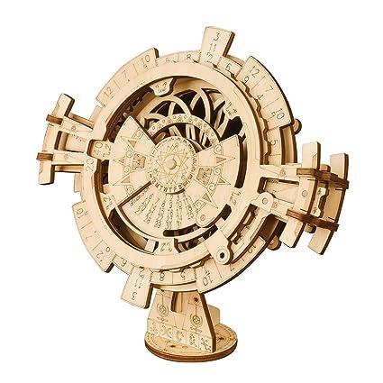 How To Make A Perpetual Calendar   Amazon Com Robotime 3d Wooden Mechanical Puzzle Diy Perpetual