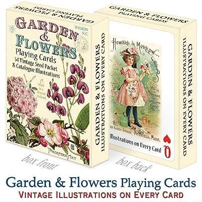 Prospero Art Garden & Flowers Playing Cards: Toys & Games