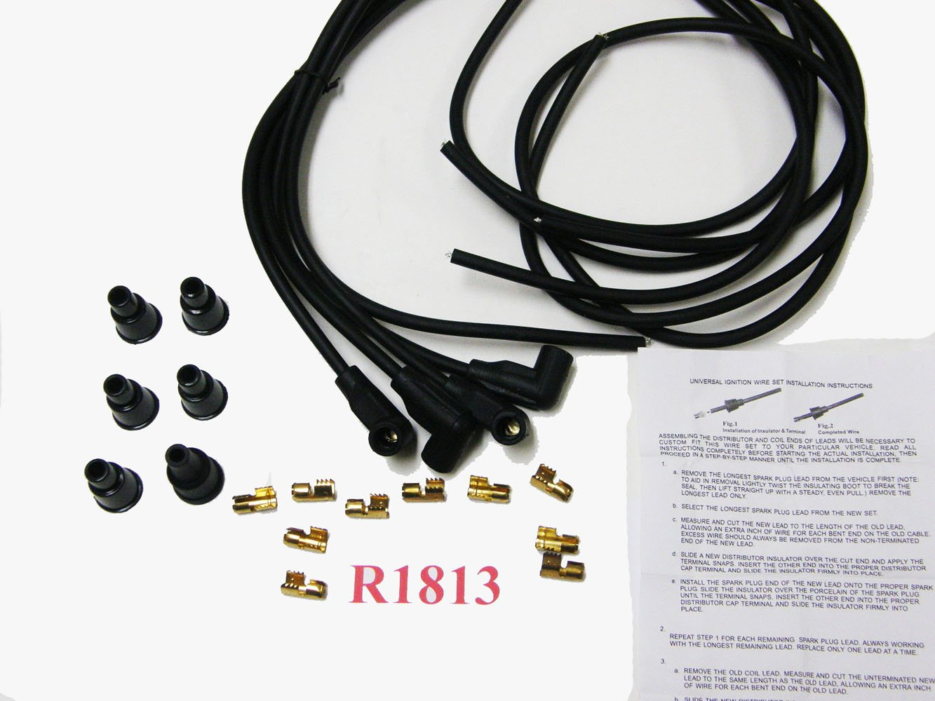 R1813 Spark Plug Wire Set For 4 Cyl Gas Tractors Wiring Of A Industrial Scientific