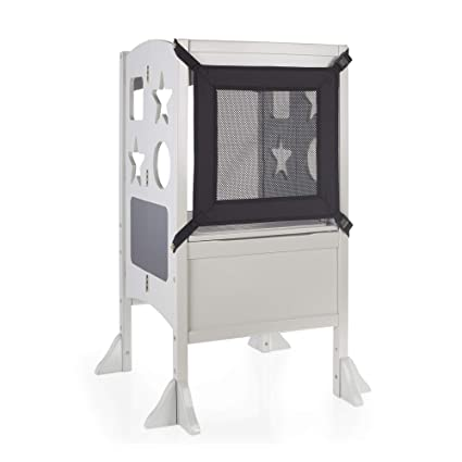 Fine Guidecraft Classic Kitchen Helper Stool Gray W Keeper And Caraccident5 Cool Chair Designs And Ideas Caraccident5Info