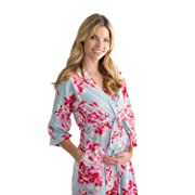 Baby Be Mine Maternity Labor Delivery Nursing Robe Hospital Bag Must Have (S/M pre Pregnancy 4-10, Mae)