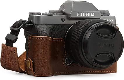 Megagear Mg1886 Ever Ready Kameratasche Aus Echtleder Für Fujifilm X T200 Braun Elektronik