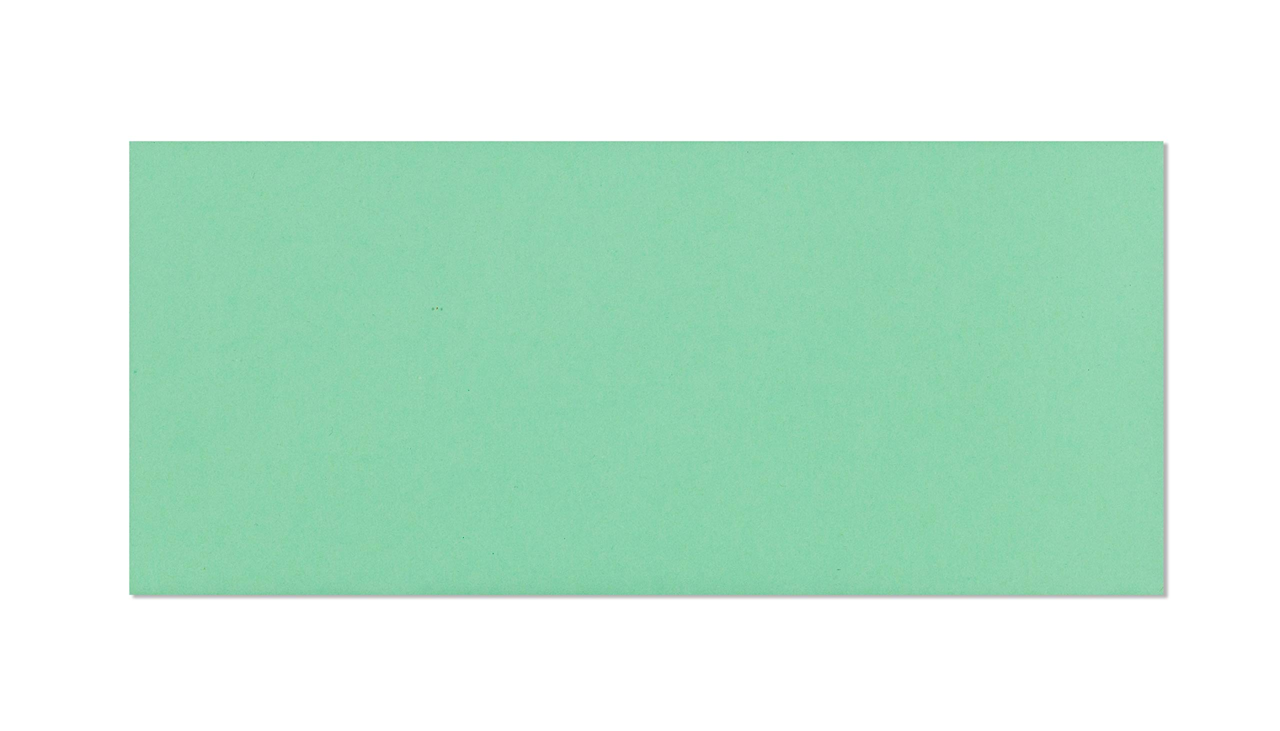 #10 Plain Envelopes Green - Invoice Envelopes for Offices - Letter Sized Envelopes 4 1 8 x 9 1 2 Inch - Vellum Finish Sub 24/60 - Pack of 500 No 10 Envelopes