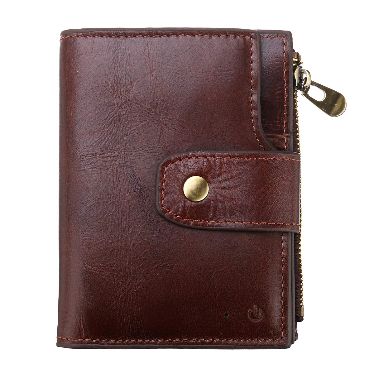 ILS - Genuine Leather Bluetooth Smart Wallet Anti Lost Locator Finder GPS Tracker Device Men Purse by ILS I LOVE SHOPPING