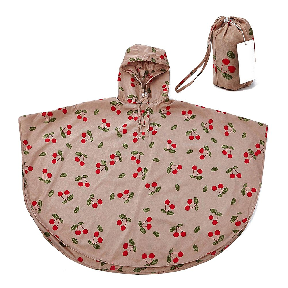 Gagacity Waterproof Poncho Toddler Kids Hooded Rain Poncho Coat Waterproof Rainwear with Storage Bag for Boys Girls 1-14 Years Old