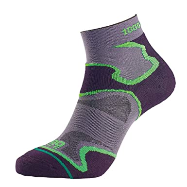 White 1000 Mile Fusion Mens Running Anklet Socks Clothing & Accessories