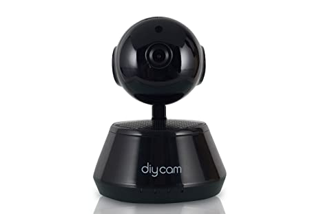 Diycam E91i Wireless HD IP Wifi CCTV Indoor Security Rotating Camera, Black <span at amazon