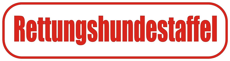 Magnetfolie f/ür Auto//LKW//Truck//Baustelle//Firma INDIGOS UG Magnetschild Rettungshundestaffel 45 x 12 cm
