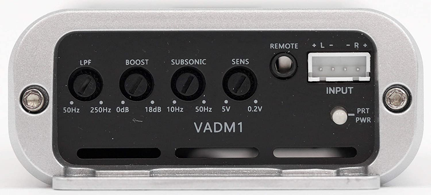 NVX VADM1 500W RMS Class D Monoblock Car//Marine//Powersports Micro Amplifier with Bass Remote