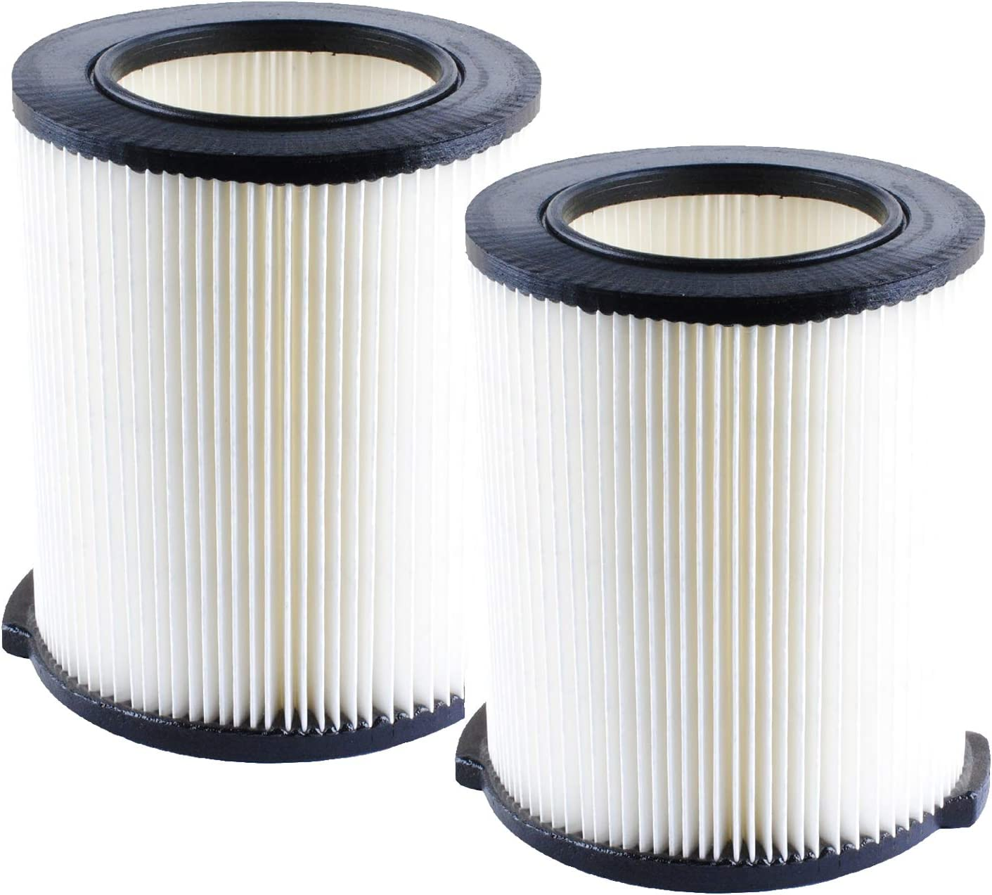 VF4000 Wet Dry Vac Replacement Filter Compatible with Ridgid 5 to 20-Gallon 6-9 Gal Replace for Husky Craftsman 17816 Vacuum Replace WD5500, WD0671, WD6425, WD0970 Washable & Reusable VF4200 Filters(2 Pack)