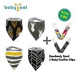 Babygoal Christmas Gift Baby Bandana Drool Bibs 4-pack Gift Sets for Boys4BB12-PC-12