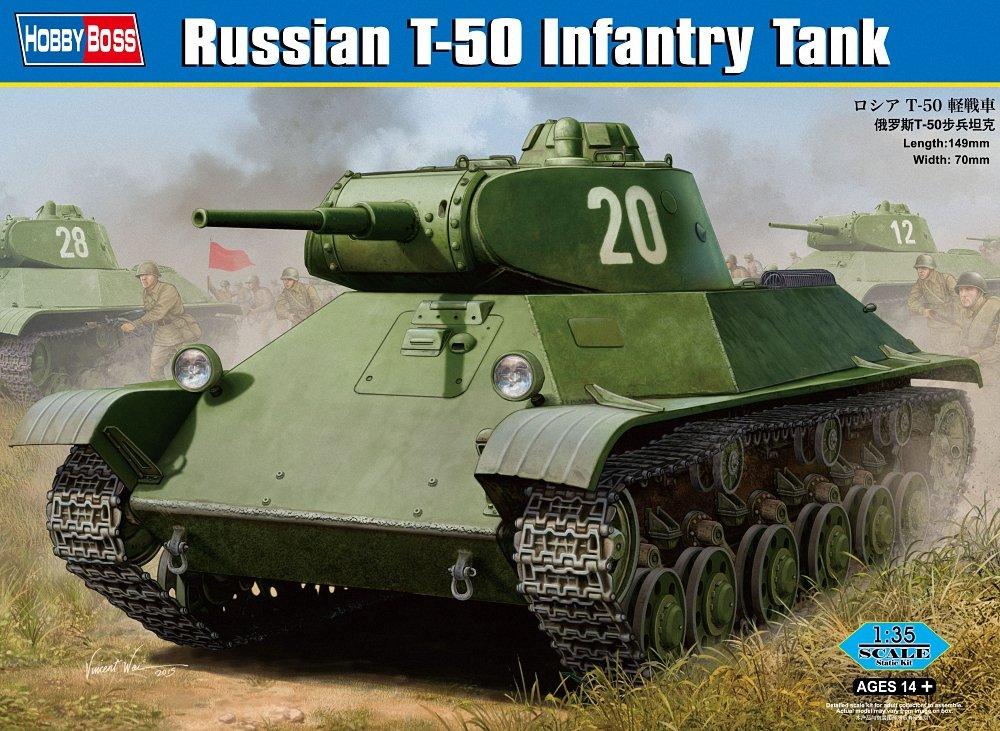 Hobby Boss 83827 - Modellbausatz Russian T-50 Infantry Tank HY83827