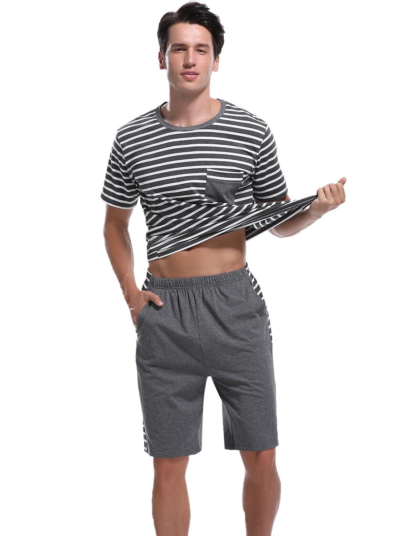 Sykooria Pijamas Verano Hombre Cortos 2 Piezas Algodon, Mas Suave Comodo y Agradable: Amazon.es: Ropa y accesorios