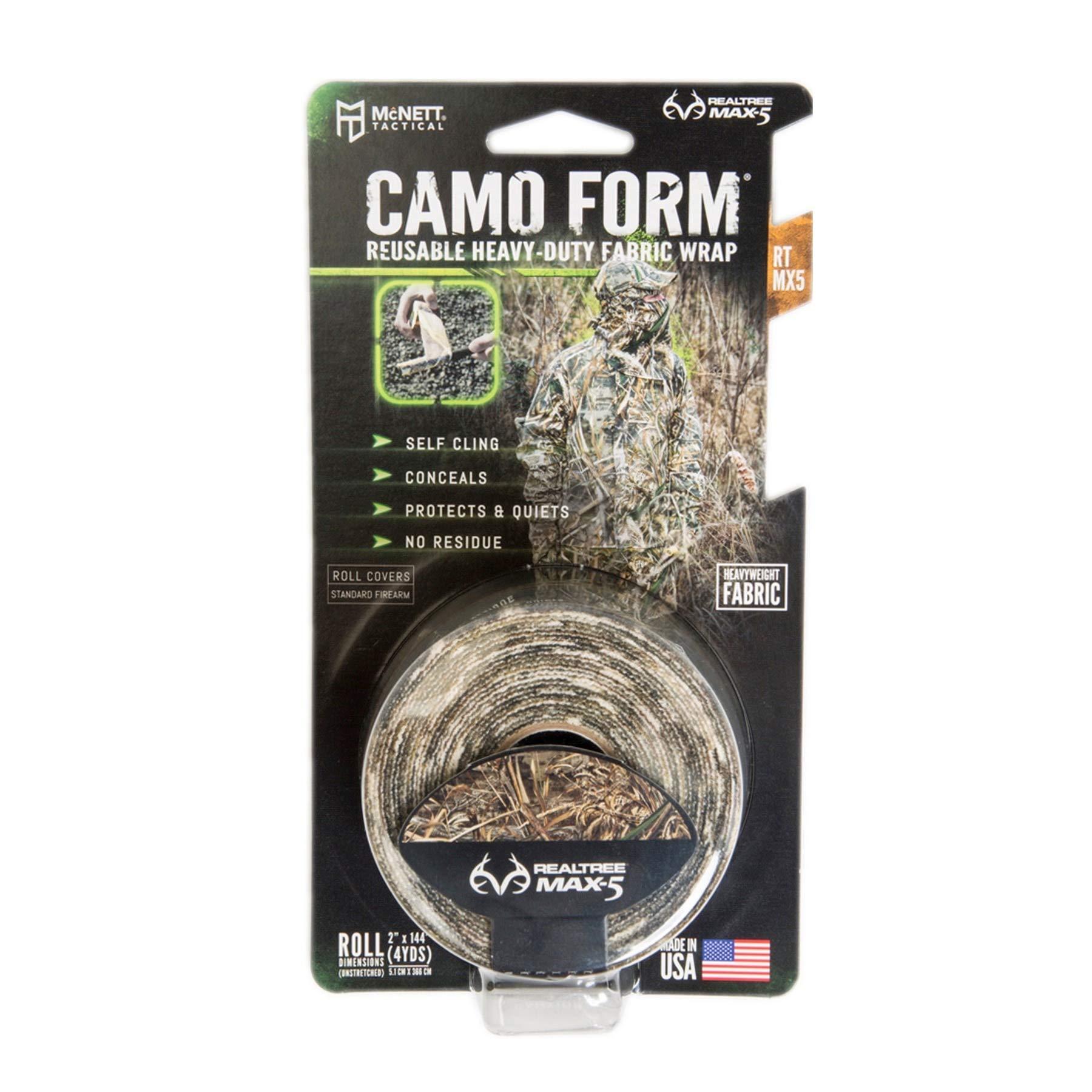 McNett Tactical Camo Form Reusable Heavy-Duty Fabric Wrap Realtree Max 5