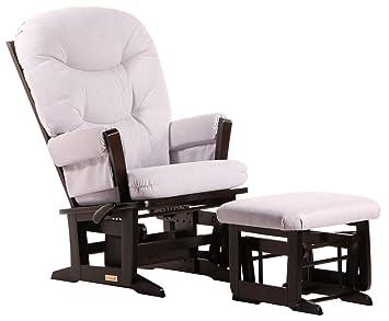 Swell Dutailier Modern Glider Multi Position Recline And Nursing Ottoman Combo Espresso Light Grey Uwap Interior Chair Design Uwaporg