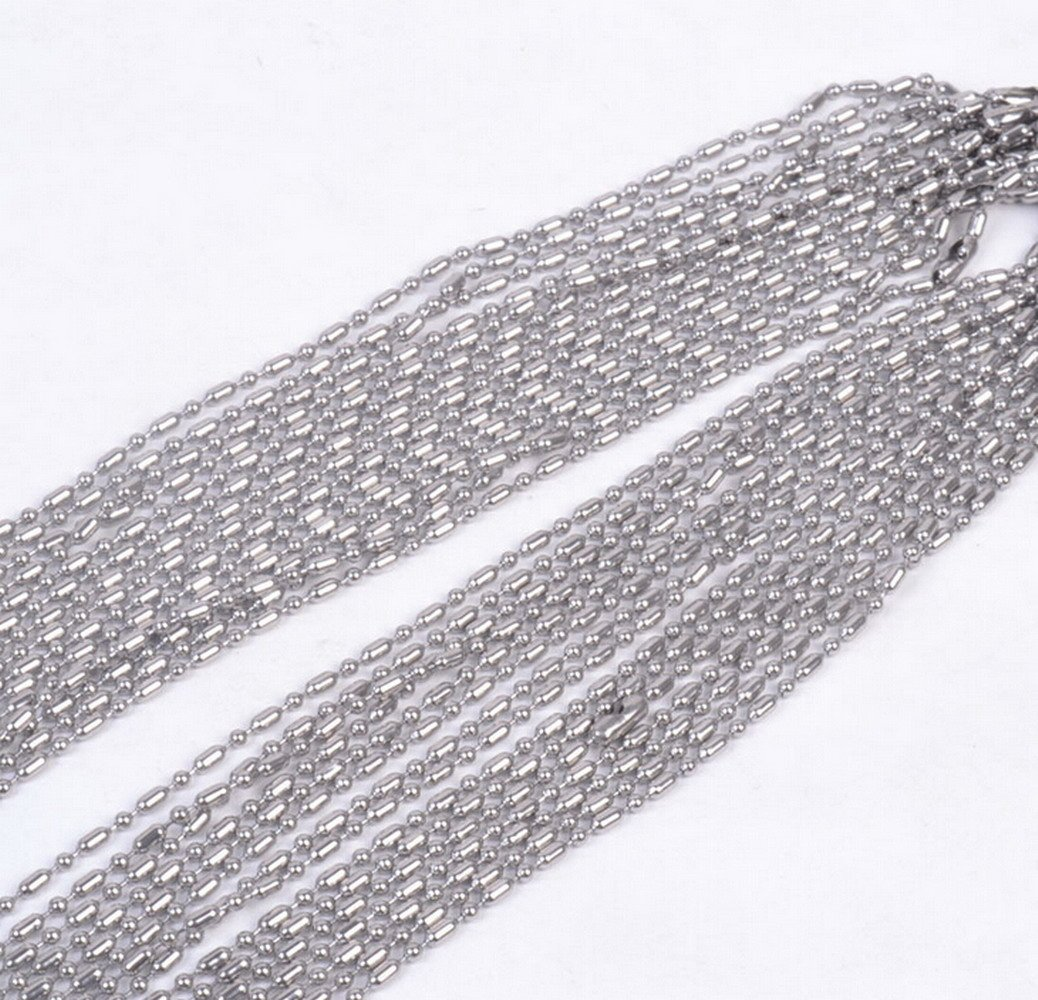 50 Stainless Steel 30 Inch Military Ball Chain Necklace