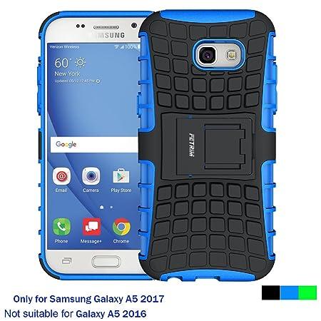 Samsung Galaxy A5 2017 Hülle, Fetrim Silikon TPU plastik Schlank Schutzhülle Handyhülle Stoßfest Schutz Etui handy Doppelstru