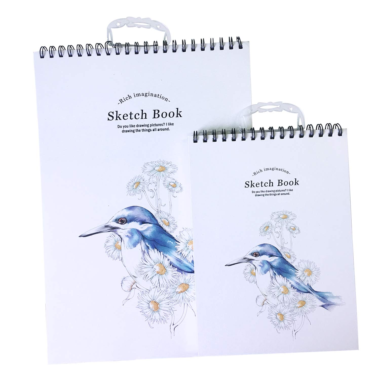Lasten Sketch Book, Sketch Pad, Sketch Pads for Artists, Sketchbooks, Sketch Pads for Drawing & Sketching Paper, 2 Pack of A3 and A4, Perfect Art Book for Sketching, Drawing, Notebooks (Bird)
