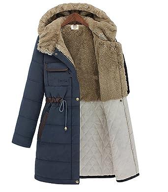 Warm Parka Mittellange Wlittle Mantel Winterjacke Damen QrCWxdoBe