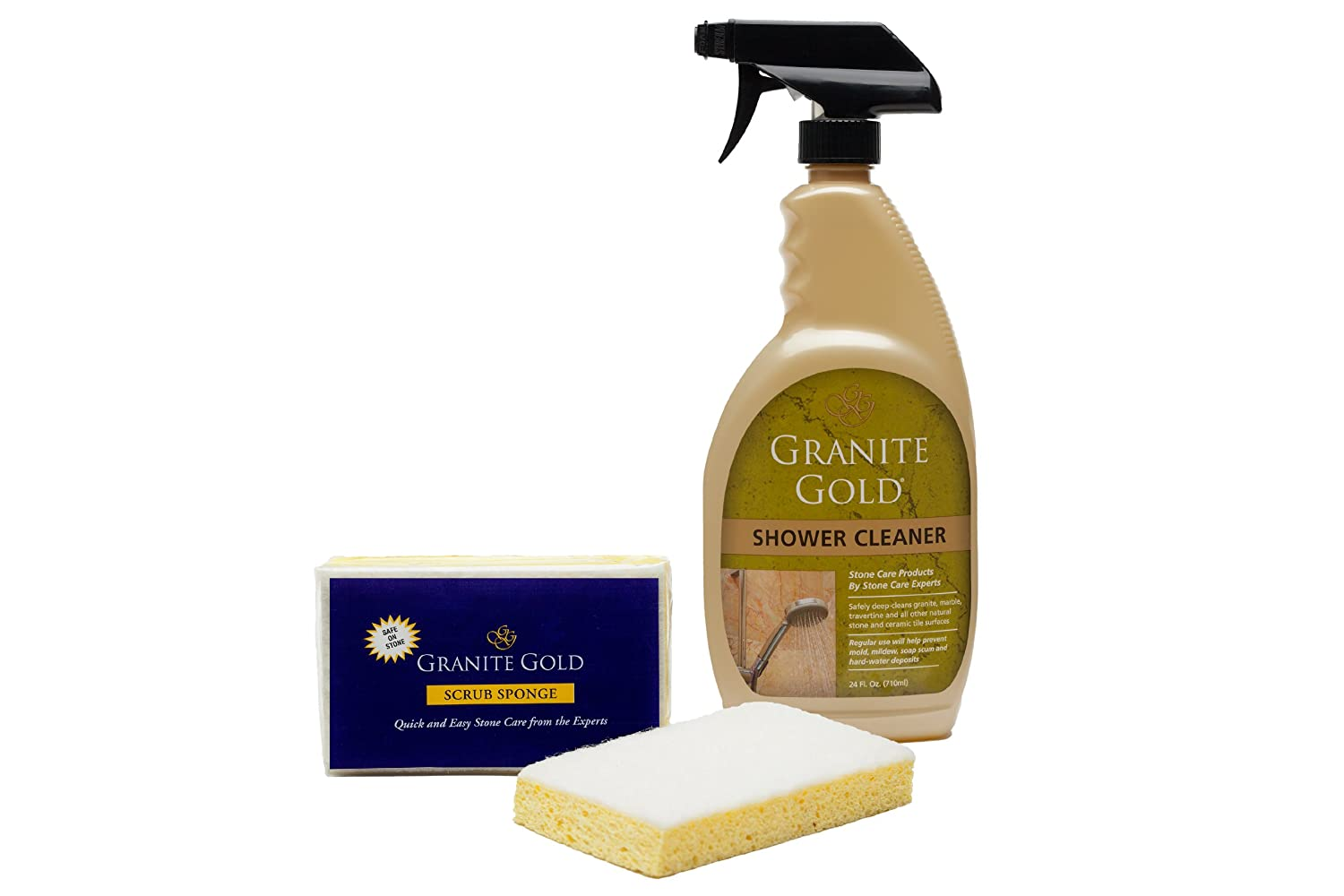 Amazon granite gold shower cleaner stone shower cleaner for amazon granite gold shower cleaner stone shower cleaner for marble travertine quartz and tile 24 oz home kitchen dailygadgetfo Gallery
