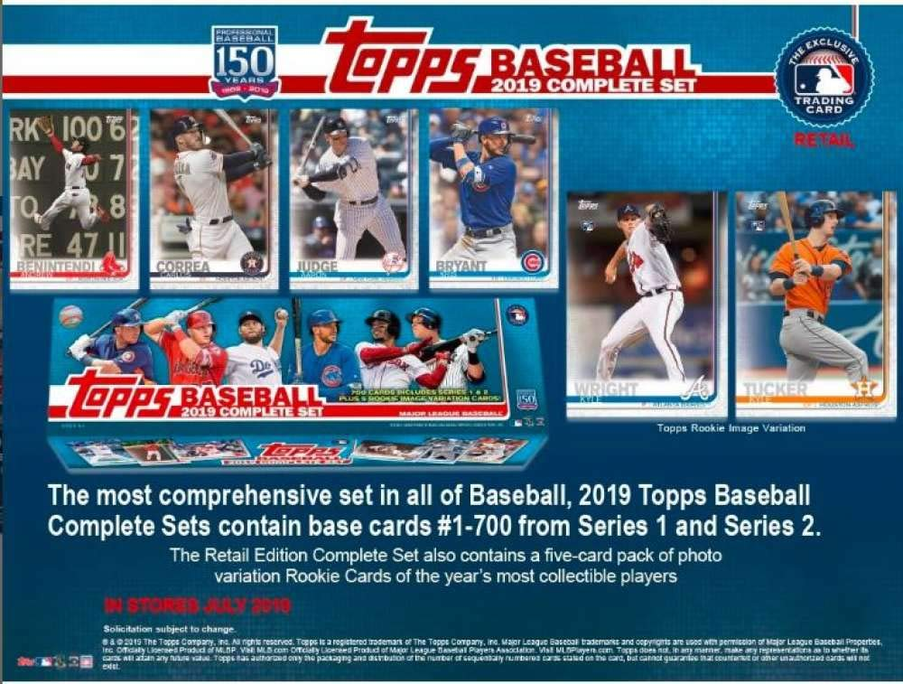 2019 Topps Baseball Cards Retail Factory Set (700 Cards 5 Rookie Variations) by Topps