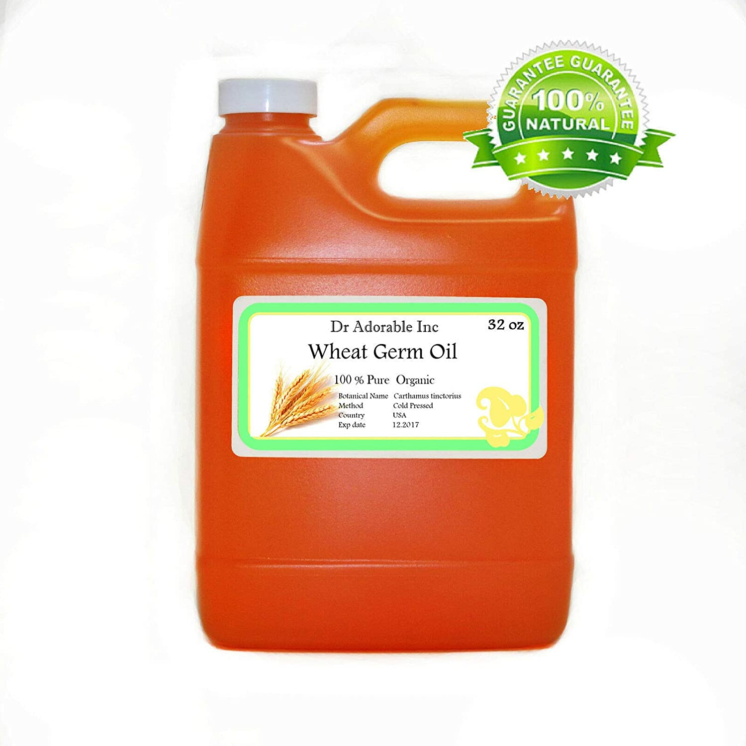 32 OZ PREMIUM Wheat Germ Oil Unrefined Virgin Cold Pressed Hair Body Skin Nails Care by Dr.Adorable