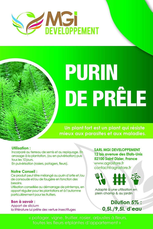 Purín de cola de caballo hecho en Francia – 5 l: Amazon.es: Jardín