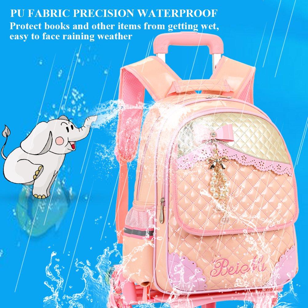 Zhuhaitf Fashion Kids Rolling Bag School Backpack with Wheels for Boys Girls