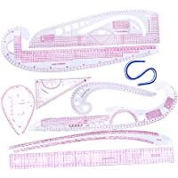 Baoblaze 9Pcs Multi Styles French Curve Ruler Set for Dressmakers Clothing Sewing Pattern Making