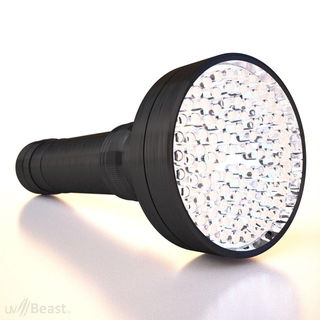 uvBeast UV Black Light Flashlight, 100 LED with 30-feet Flood Effect