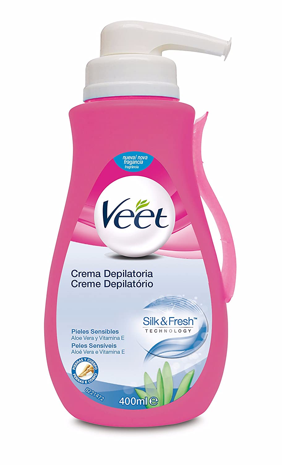 Veet Crema Depilatoria - con dosificador, Piel Sensible, 400ml: Amazon.es: Amazon Pantry