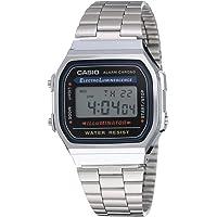 Casio Reloj Digital Unisex con Correa de Acero Inoxidable – A168WA
