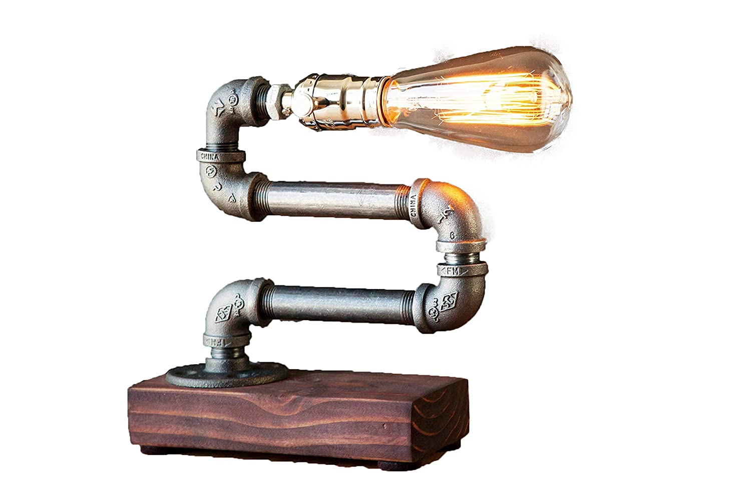 Buy The Micrometal Vintage Table Lamp Desk Lamp Edison Steampunk Lamp Rustic Home Decor Gift For Men Farmhouse Decor Home Decor Desk Accessories Industrial Lighting 2299 Online At Low Prices In India Amazon In