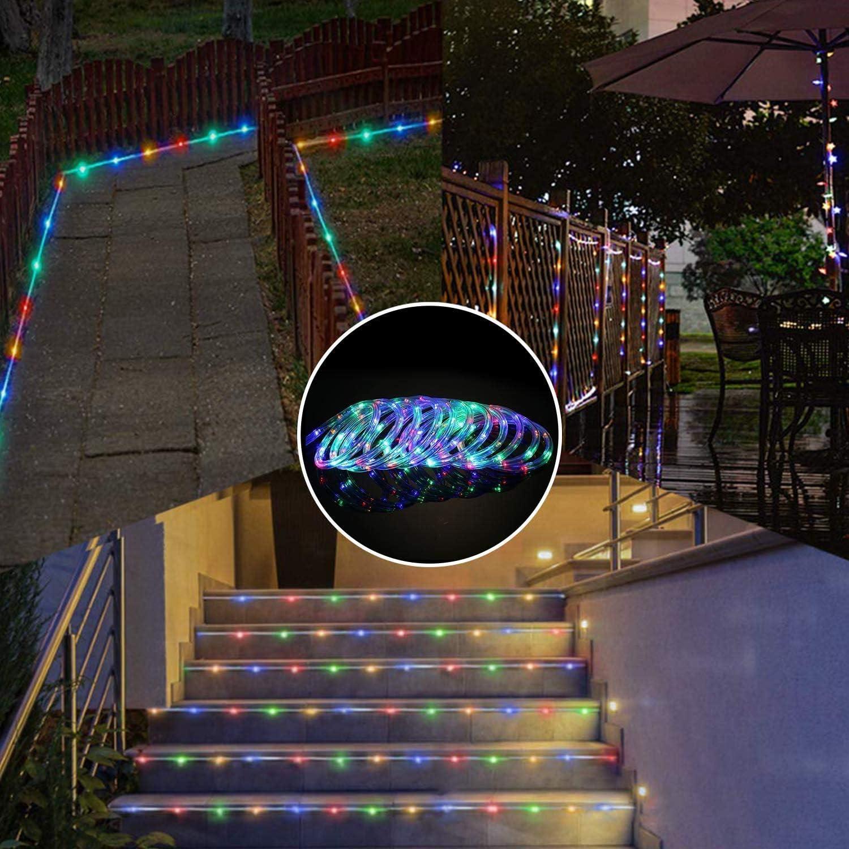 FEE-ZC Luces de Cuerda LED, 5M 50LED Luces de Cuerda de Interior con alimentación USB 8 Modos Luces de Hadas Impermeables para Fiestas en el jardín al Aire Libre Multicolor