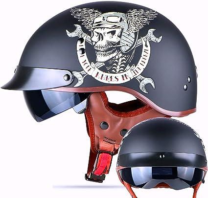 Vintage Chopper Demi Jet Helmet Harlley Casque De Moto Et