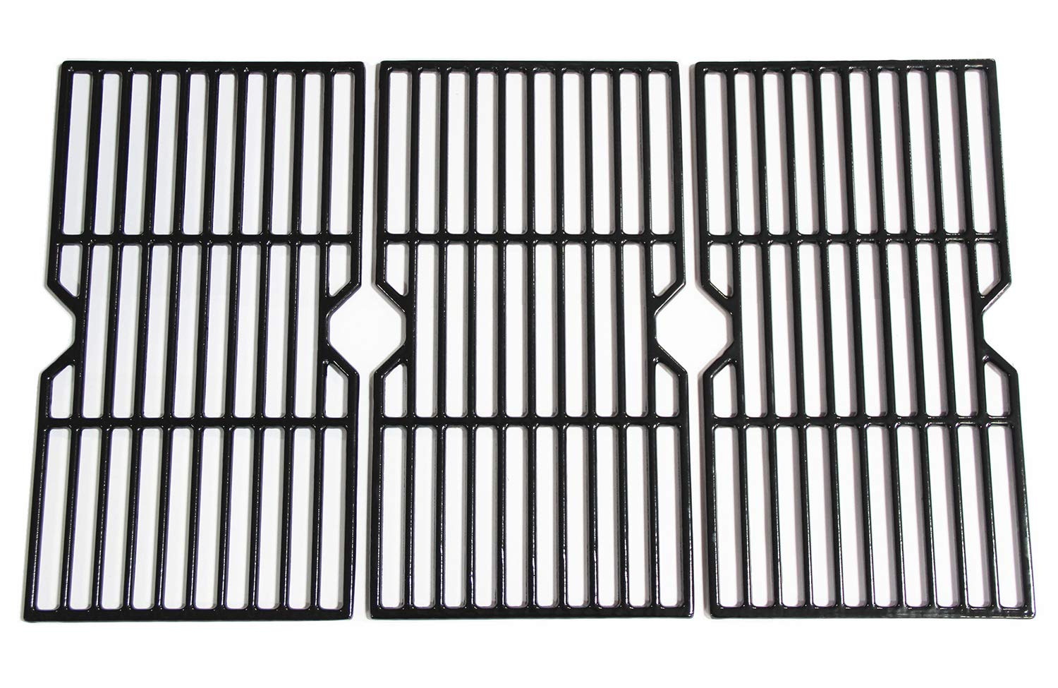 Hongso 16 7/8'' Polished Porcelain Coated Cast Iron Gas Grill Grates Replacement for Charbroil 463436213, 463436214, 463436215, 463420508, 463420509, 463440109, 463441312, 463441514 Grills, PCH763 by Hongso