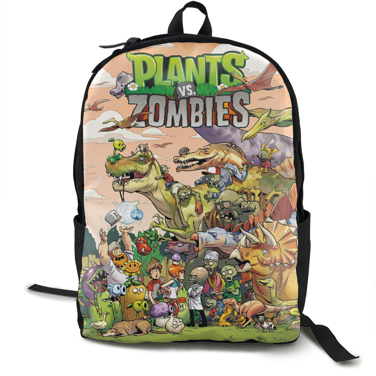 Amazon.com | Plants-vs-Zombies Adult Backpack Simple And ...