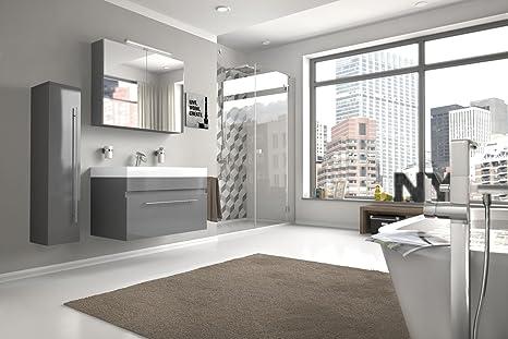 Bad11 badmöbelset lazzaro 3 pezzi 80 cm bagno set di mobili con