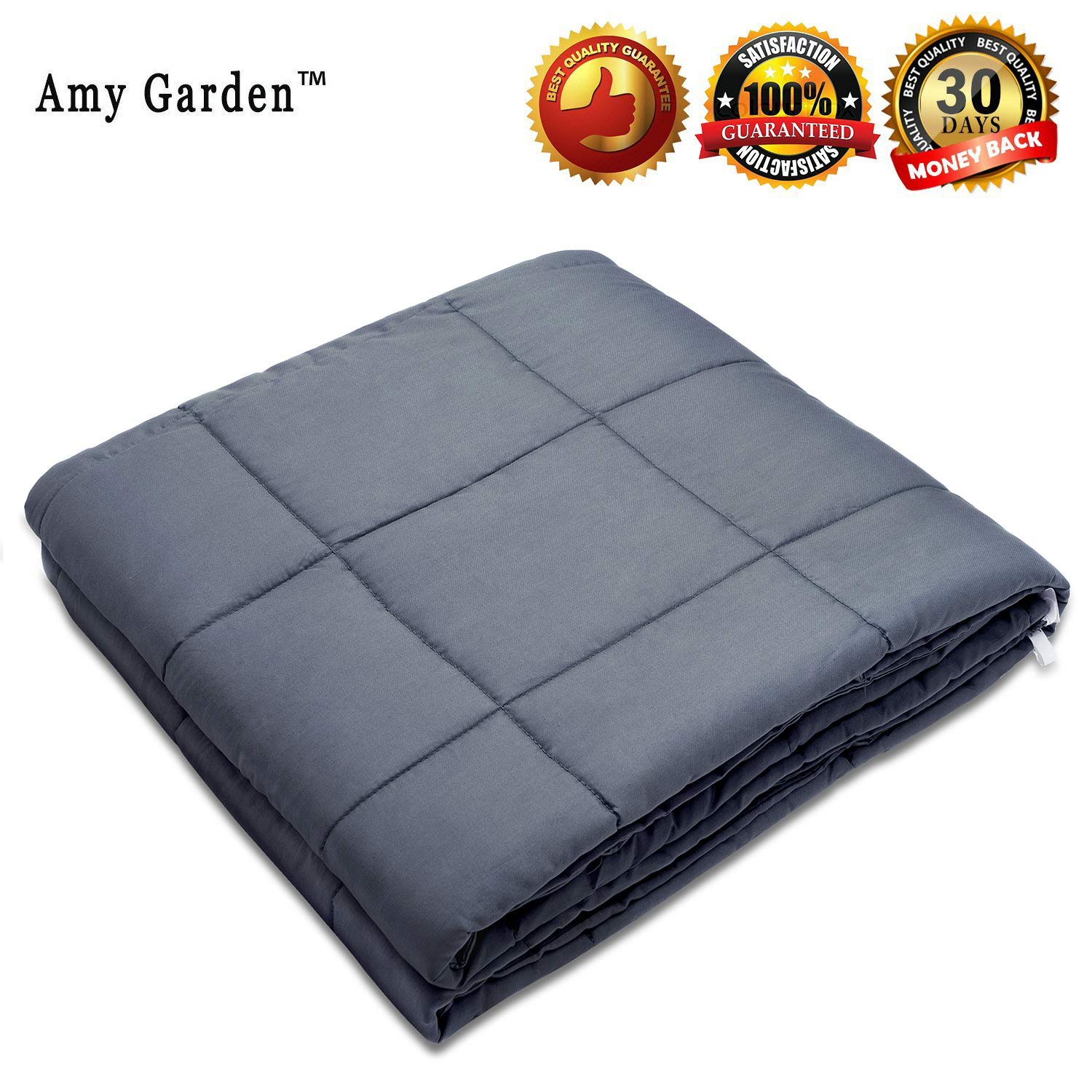 Amy Garden Weighted Blanket for Anxiety, ADHD, Autism, Insomnia or Stress