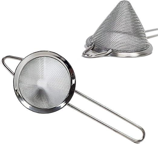 Stainless Steel Clip Fine Mesh Colander Sifter Sieve Kitchen Vegetable Strainer