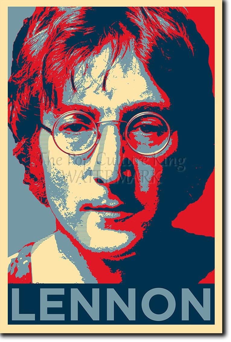 Parodie Obama Hope Art Print John Lennon Poster Photo Glac/é Cadeau 30x20 cm affiche 30 x 20 cm