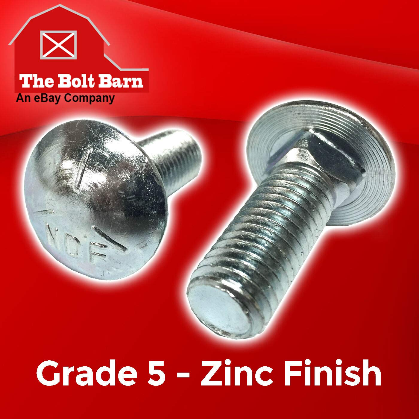 3//8-16x4 Grade 5 Carriage Bolts Round Head Square Neck Bolts Zinc Durable and Sturdy 20 Good Holding Power in Different Materials