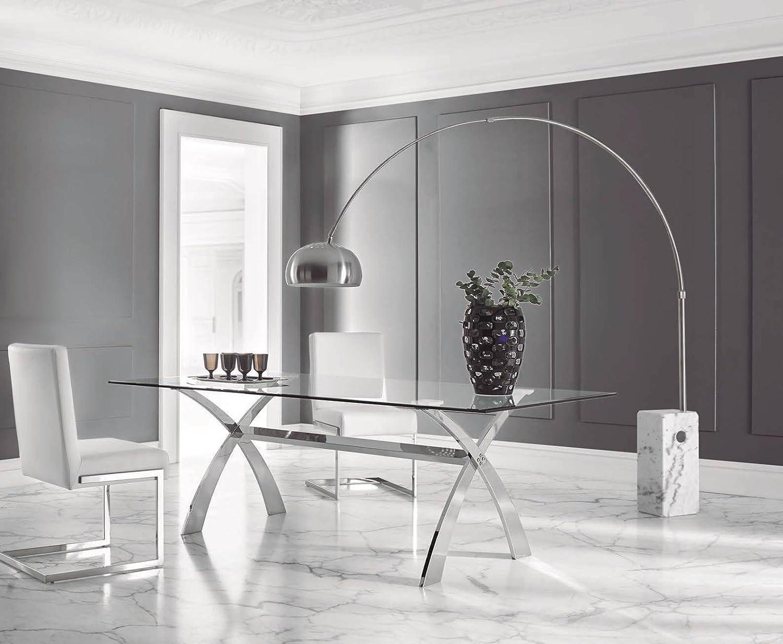 DUGARHOME - Mesas de Comedor Modernas - Mesa Acero/Cristal ...