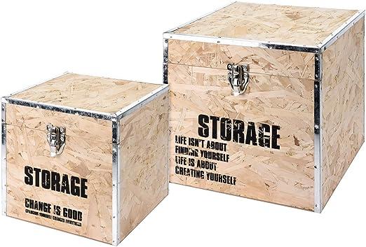 koopman International Caja Madera Box Storage Juego de 2 30 x 30 x ...