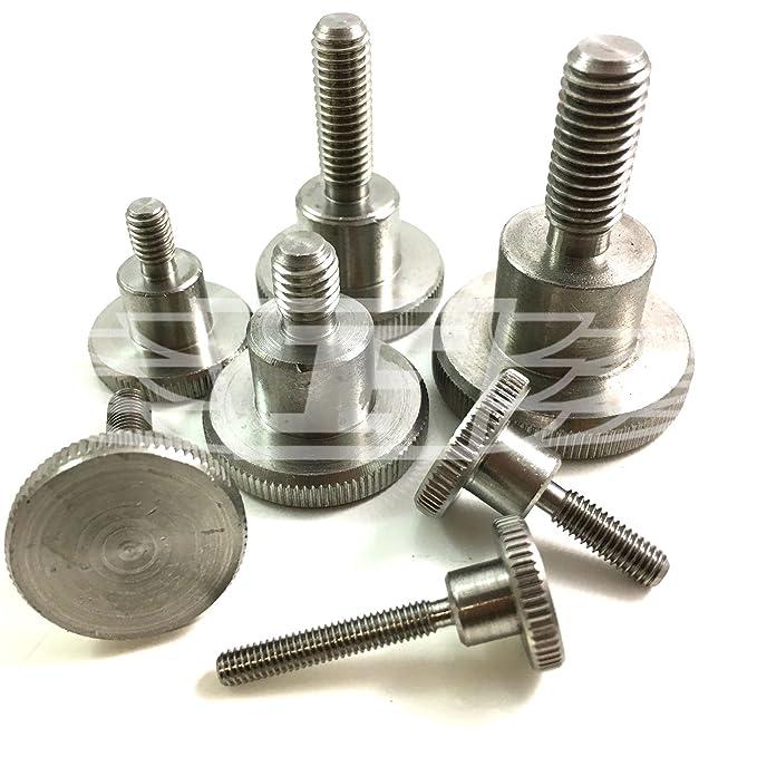 M4x12mm Knurled Screws,Thumb Screws,Stainless Steel,Metric,Pack 10