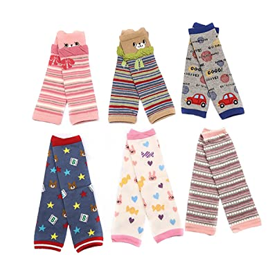 6 Pack Baby Leg Warmers For Crawling Knee Protector For 1~36 Months Baby