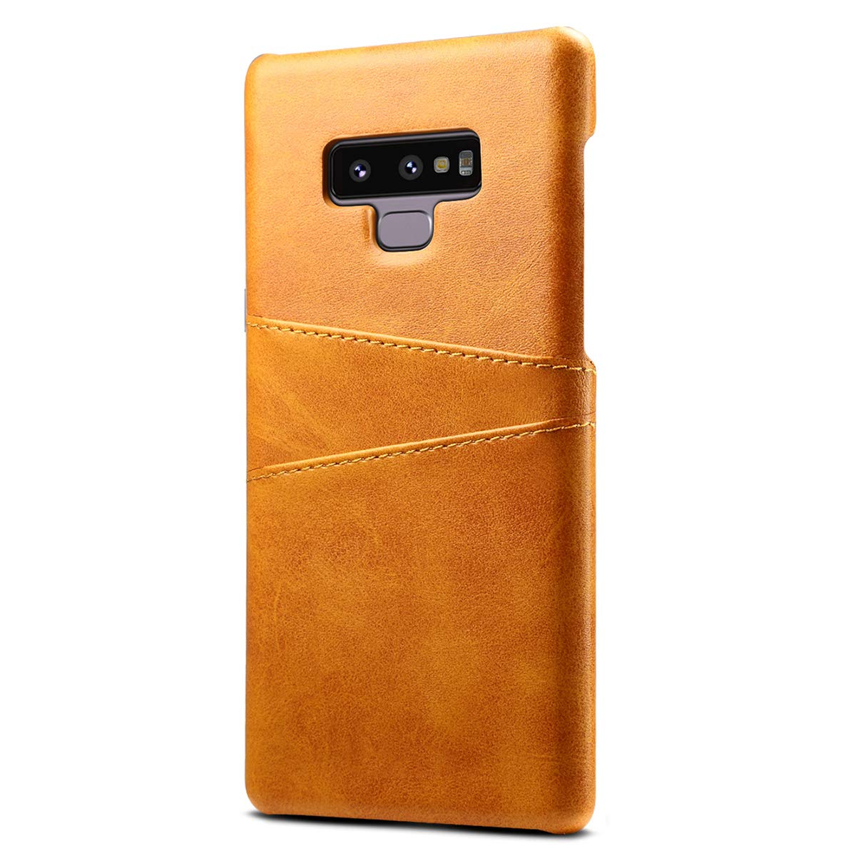 Galaxy Note 9 Leather Wallet Phone Case Back Slim Cover with Card Holder, Khaki FLY HAWK KDS07161-KaQiSe-Note9@#CAGDF