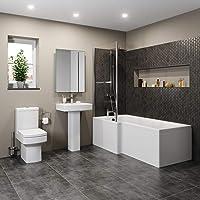 Ceramica L-Shaped Shower Bath
