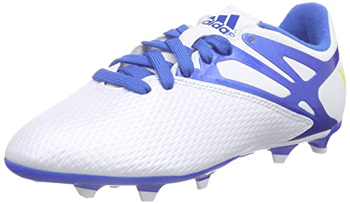 timeless design 1cda8 b70f9 adidas Messi 15.3 FG AG White Junior Soccer Cleats, Size 5